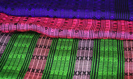 Colorful Lao fabric Royalty Free Stock Photo