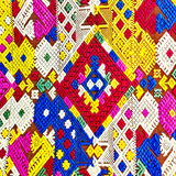 Colorful laos silk handcraft peruvian style rug surface old vintage torn conservation Made from natural materials Chemical free cl. Colorful laos silk handcraft royalty free stock photos