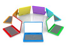 Colorful Laptops Royalty Free Stock Photos