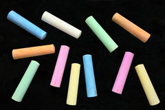 Colorful large chalk sticks. Stock Photography