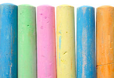 Colorful large chalk sticks. Royalty Free Stock Image