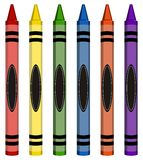 Colorful Large Crayons Royalty Free Stock Image