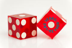 Colorful Las Vegas Dice Stock Image