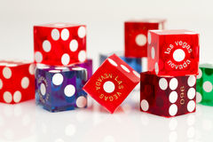 Colorful Las Vegas Dice Stock Images