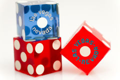 Colorful Las Vegas Dice Stock Photography