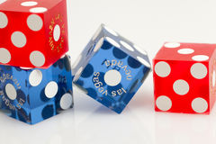 Colorful Las Vegas Dice Royalty Free Stock Images