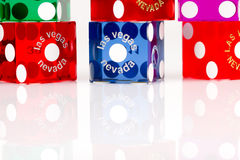 Colorful Las Vegas Gaming Dice Royalty Free Stock Image