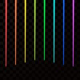 Colorful laser beams. Abstract Laser rays all color of rainbow. Vector illustration.  Royalty Free Stock Photos