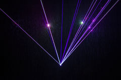 Colorful Laser Effect. Over a plain black background Stock Photography