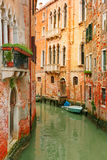 Colorful lateral canal in Venice, Italy Royalty Free Stock Image