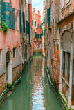 Colorful lateral canal in Venice, Italy Stock Image