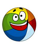 Colorful laughing cartoon beach ball Royalty Free Stock Photo