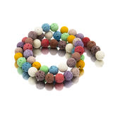 Colorful lava volcano beads with reflection Royalty Free Stock Photography