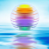 Colorful layer ball illustration Royalty Free Stock Photos