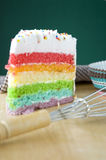 Colorful layer cake Stock Photo