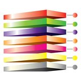 Colorful layer diagram Stock Images