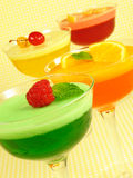 Colorful Layered Gelatins Stock Photo