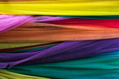 Colorful. Layers of clothes in several colors Stock Image