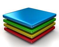 Colorful layers Icon Stock Image