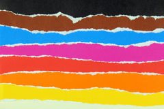 Colorful Layers Of Torn Paper Royalty Free Stock Images