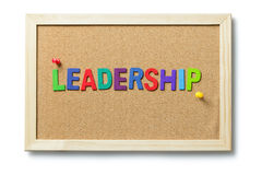 Colorful leadership word Royalty Free Stock Photos