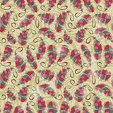 Colorful Leaf Seamless Pattern Stock Images