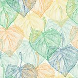 Colorful leaf seamless pattern Stock Photography