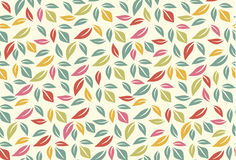 Colorful leaf seamless pattern Royalty Free Stock Image