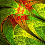 Colorful leafy pattern Stock Image