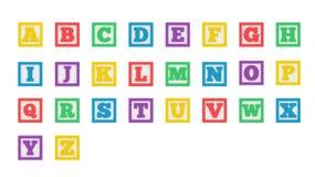 Colorful Learning Block Alphabet Stock Photo