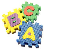 Colorful Learning Blocks Stock Image