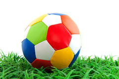 Colorful leather ball Royalty Free Stock Photography