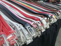 Colorful leather belt Stock Image