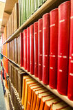Colorful Leather bound books in a medical library Stock Photography