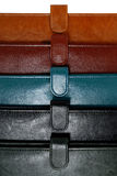 Colorful leather covers closeup Stock Photo