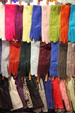 Colorful leather gloves Royalty Free Stock Photos