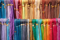 Colorful leather laces royalty free stock photo