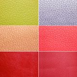 Colorful leather patterns Stock Photography