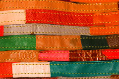 Colorful  Leather sheep Fabric Stock Photography