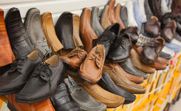 Colorful leather shoes Stock Photography