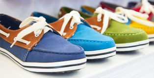 Colorful leather shoes Royalty Free Stock Photos