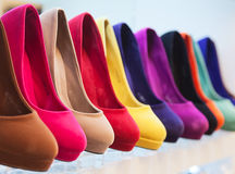 Colorful leather shoes Stock Images