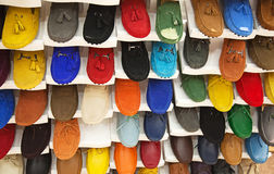 Colorful leather shoes Stock Image