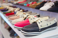 Colorful leather shoes Stock Photos