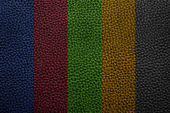 Colorful leather texture of sofa Royalty Free Stock Images