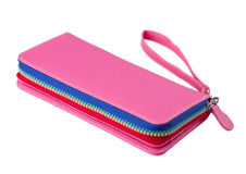 Colorful leather woman wallet Royalty Free Stock Photo