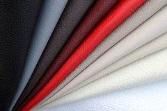 Colorful leathers bended together. On sunlight Royalty Free Stock Photos