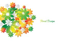 Colorful leaves abstract  design Stock Images
