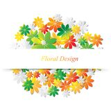 Colorful leaves abstract vector design Royalty Free Stock Photos