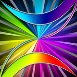 Colorful Leaves Background Means Plant And Rainbow Rays Royalty Free Stock Images